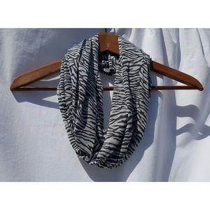 Grey Zebra Infinity Scarf • Super Soft